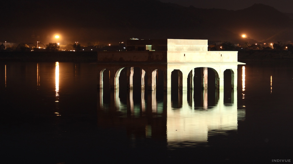 Part of Jal Mahal in Jaipur, Rajasthan, India