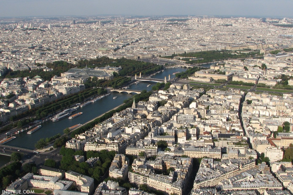 View from Eiffel Tower in Paris