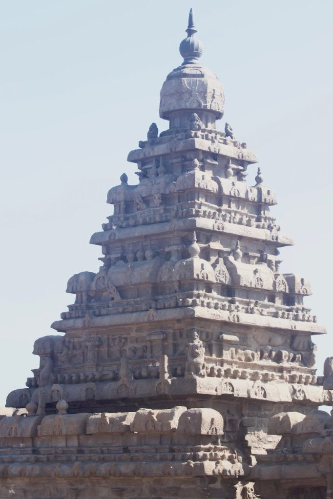 Top of the Shore Temple in Mamallapuram, India
