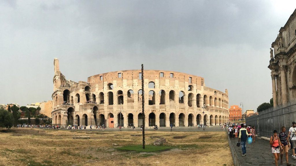 Outside Colosseum