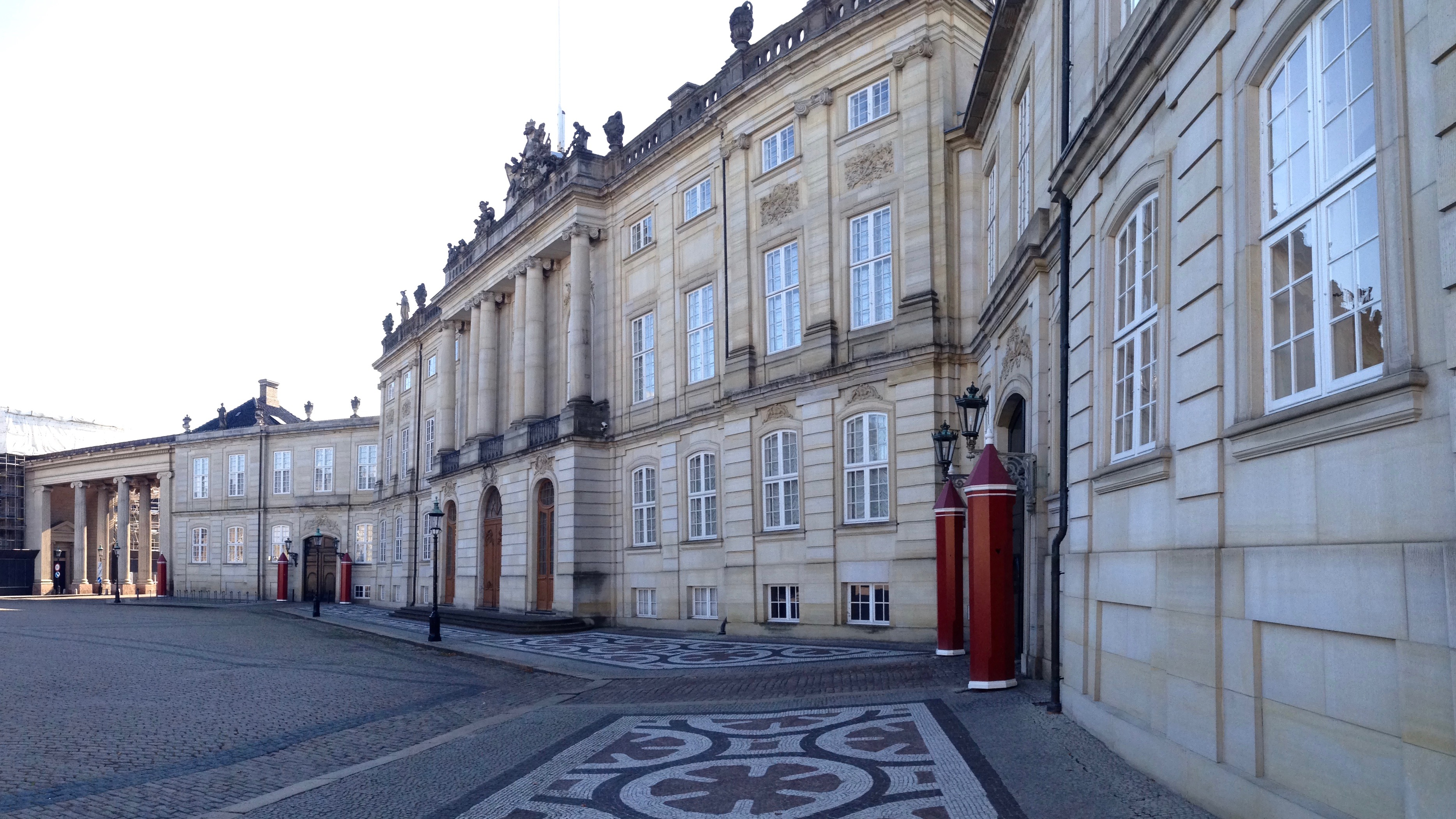 Inner yard of Amalienborg Palace