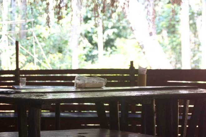 Sahakari SpiceFarm restaurant under the palm trees in South Goa, India