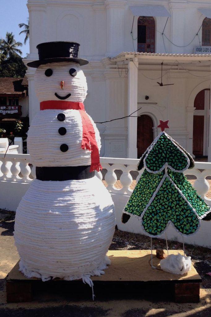 Snowman in Goa, India