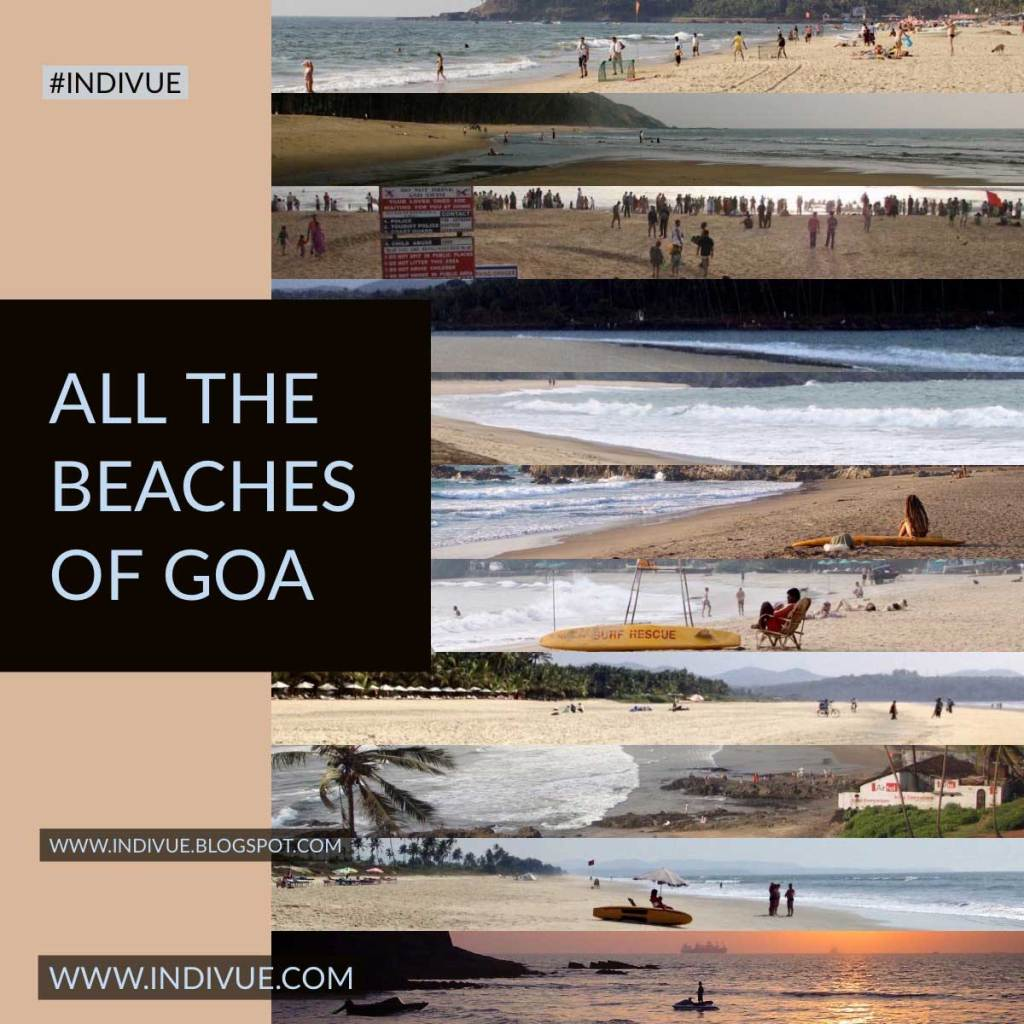 All the beaches of Goa