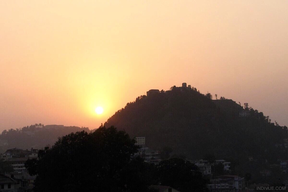 Sunset in Mussoorie, hillstation in North India