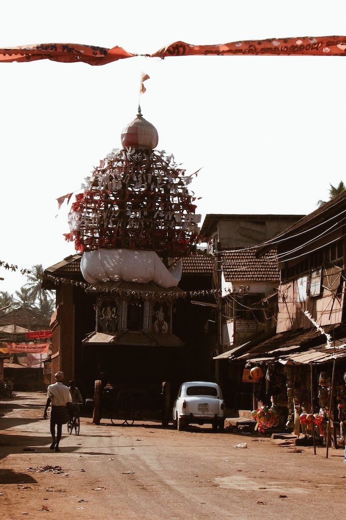 Religious vehicle in the center of Gokarn