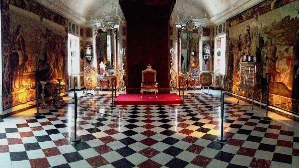 Inside Christiansborg Palace in Copenhagen