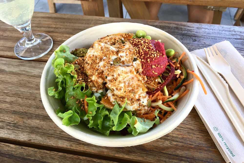 Vegetarian meal in the Copenhagen Tivoli Food Garden