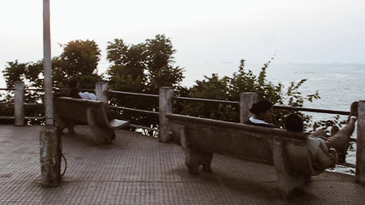 People sitting in Dona Paula, Panjim, Goa, India