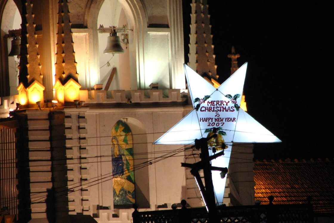 Goan church with a Christmas wish in 2006