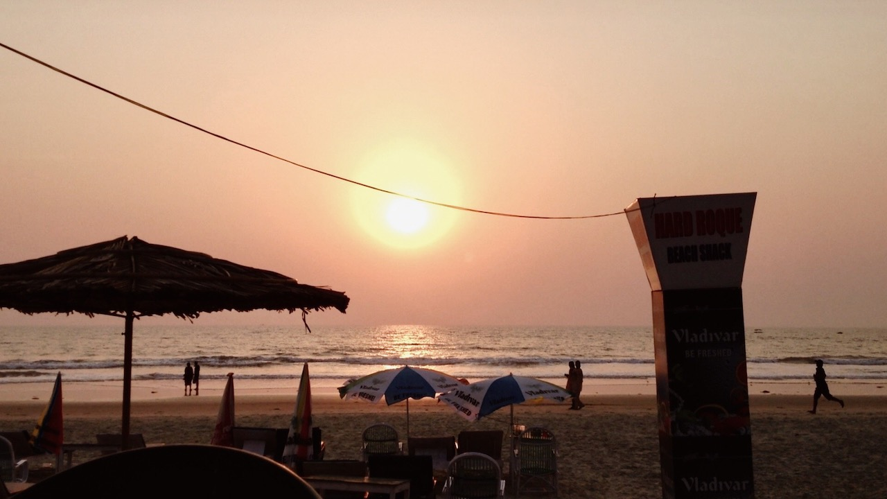 Benaulim Beach, Goa, during sunset