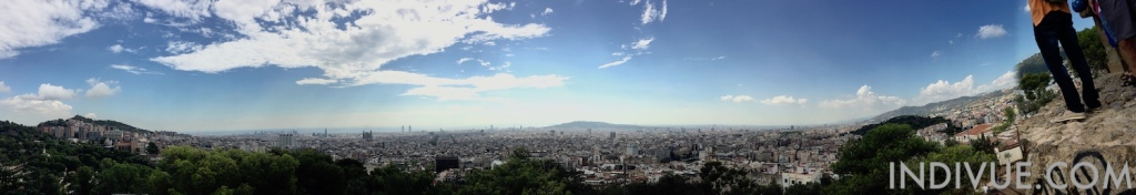 Panoramic view over Barcelona city