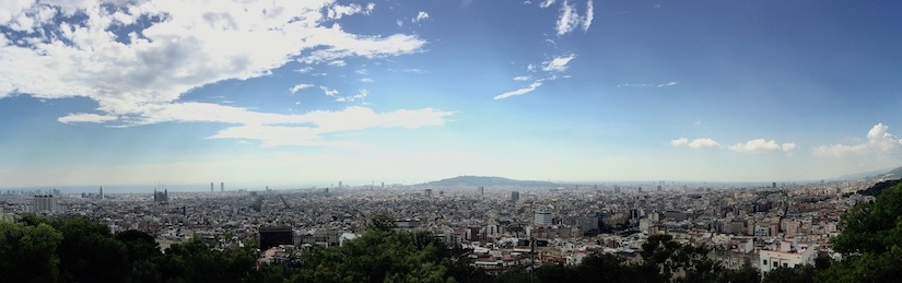 Panoramaphoto of Barcelona