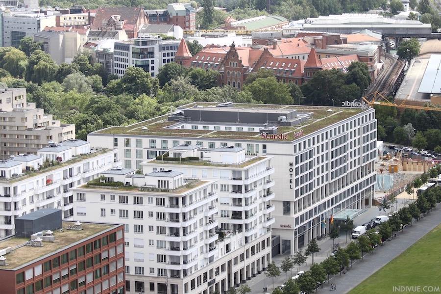 Hotel Scandic Potsdamer Platz Berlin aerial view