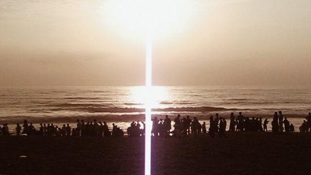 Lots of people in Calangute Beach during sunset in 2006
