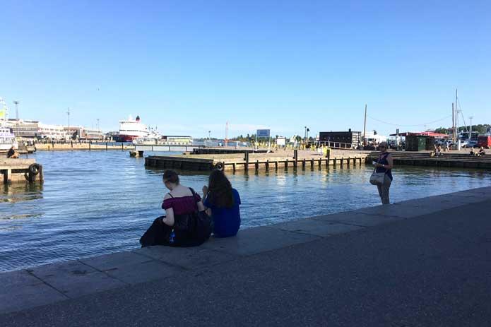 Summertime in Helsinki centre harbour