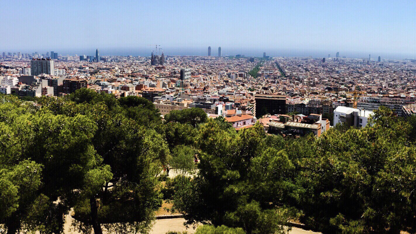 View from Park Quell, Barcelona