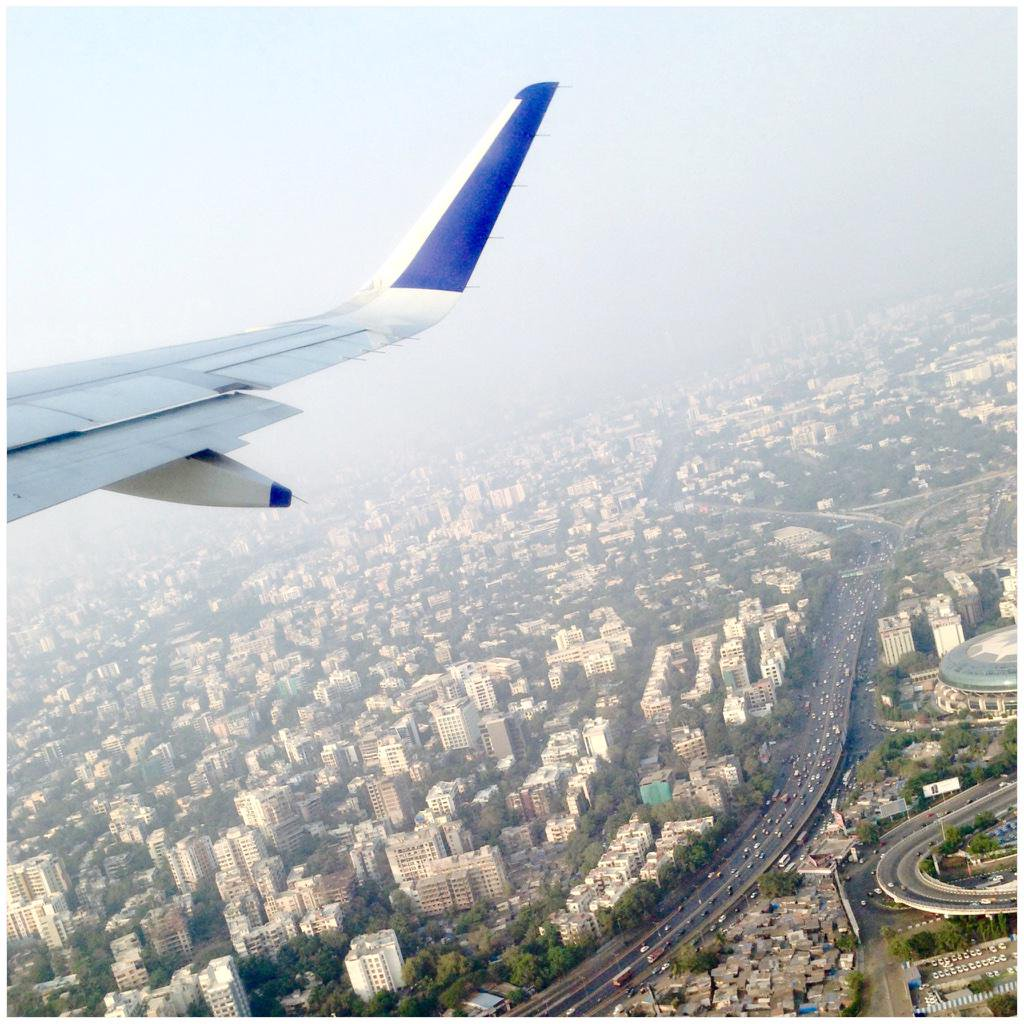 Mumbai underneath view from airplane