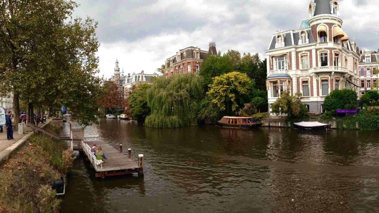 By the river in Amsterdam
