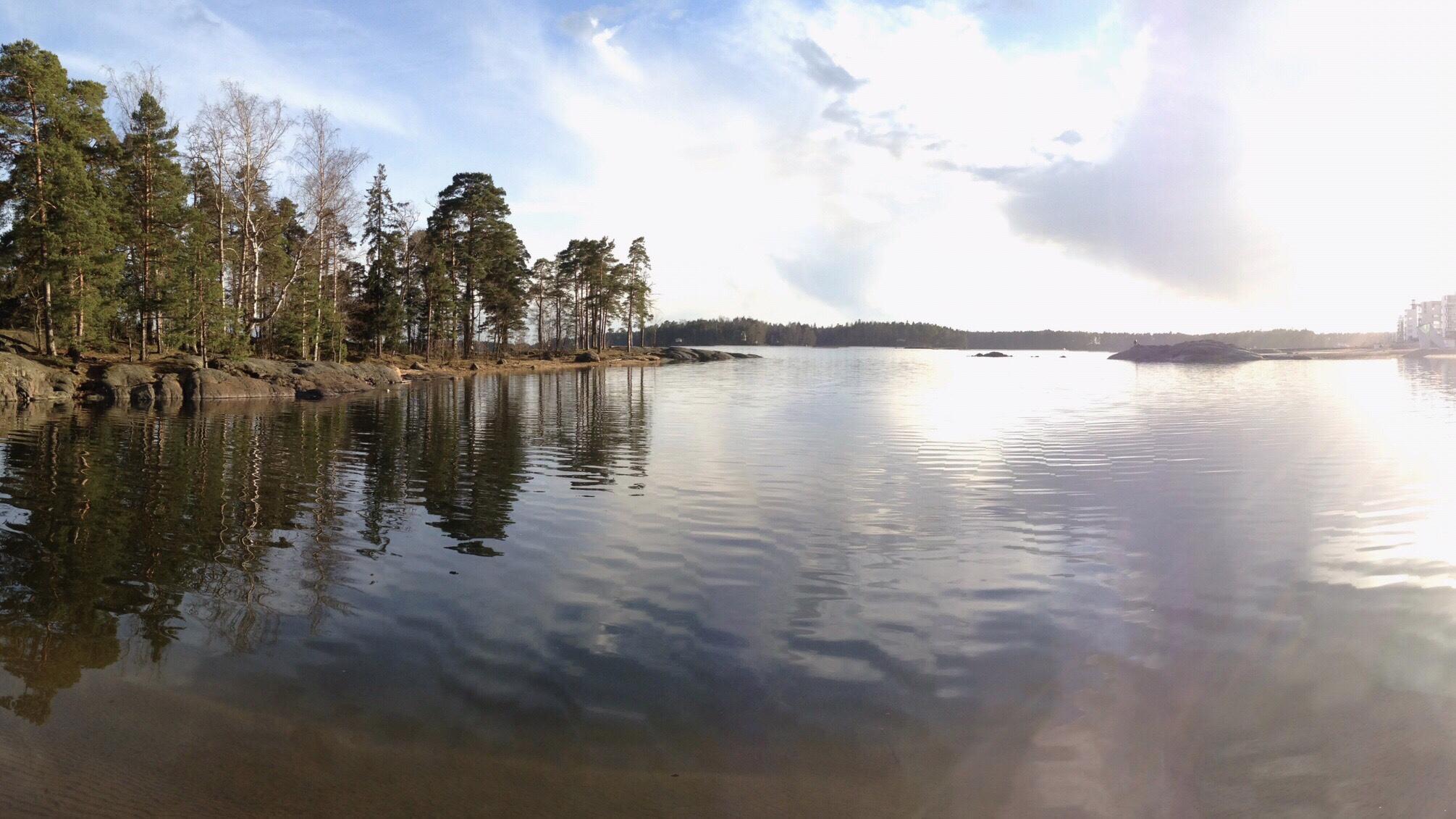Aurinkoranta beach in Vuosaari, Helsinki