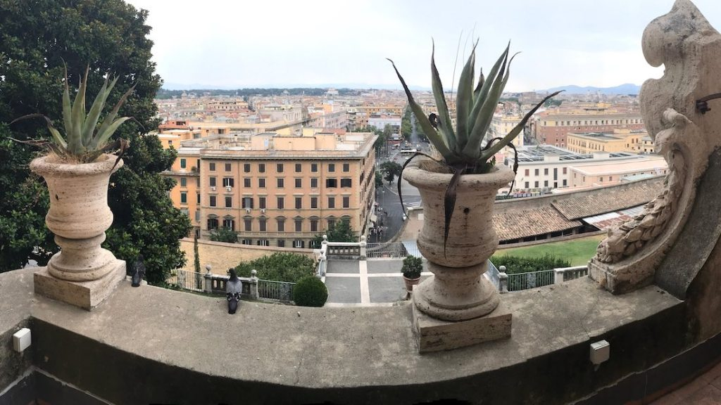 View over Rome from the Vatican City State