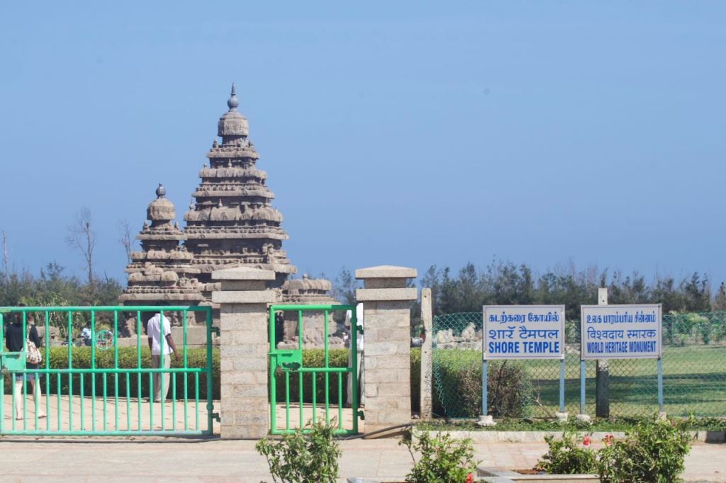 Shore Temple, a World Heritage Monument in Mahabalipuram, India