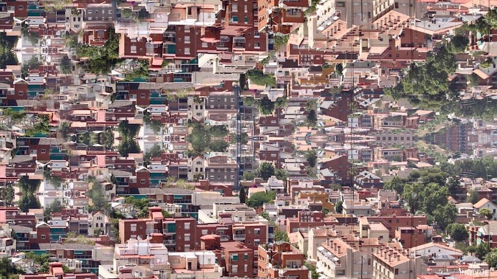 Digital art inspired by Barcelona