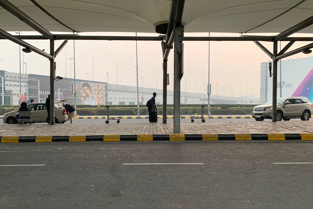 Winter morning in New Delhi airport 2019