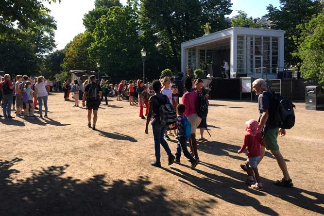 Espa stage - the place for live music in Helsinki centre park