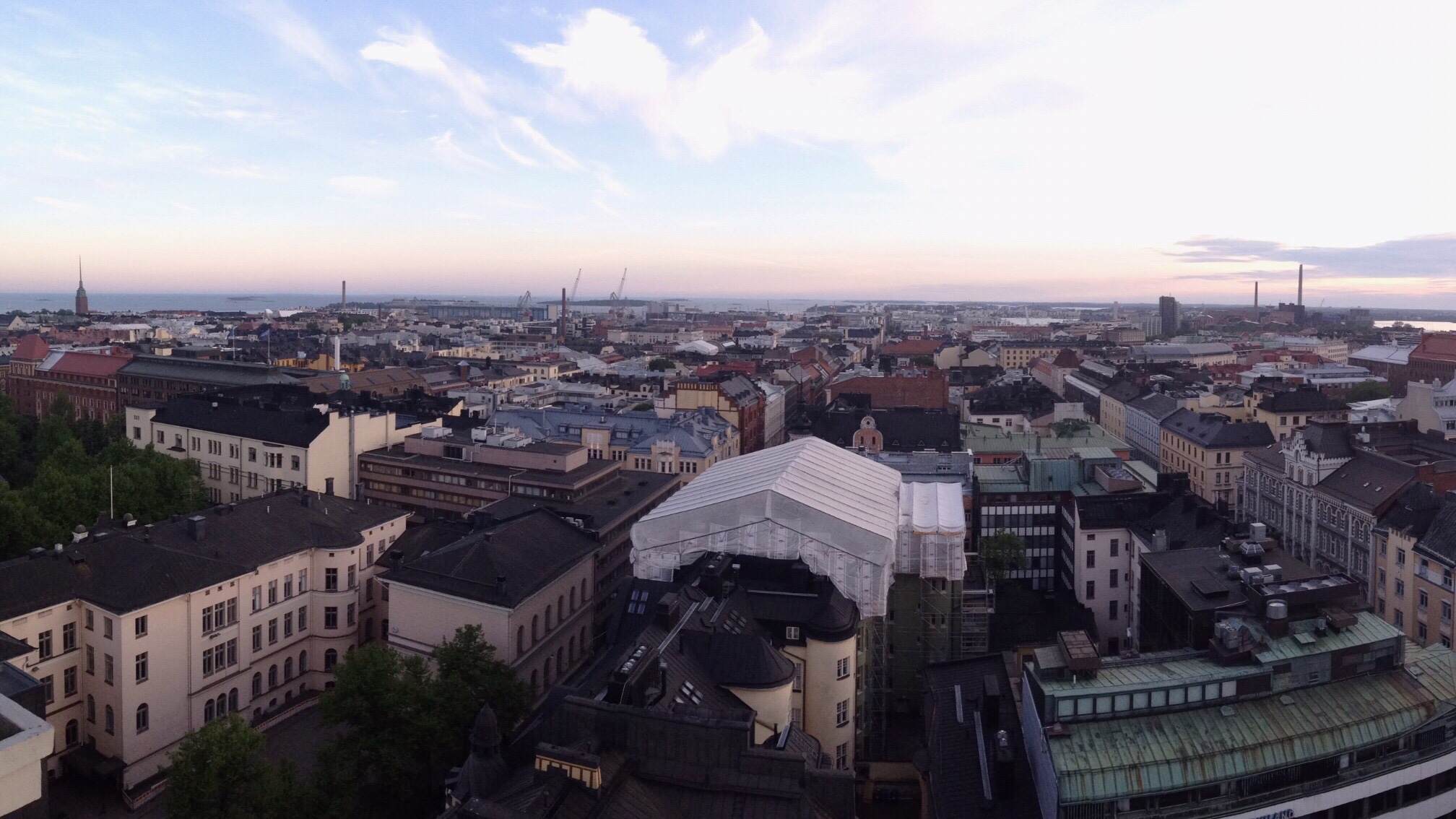 View over Helsinki city centre