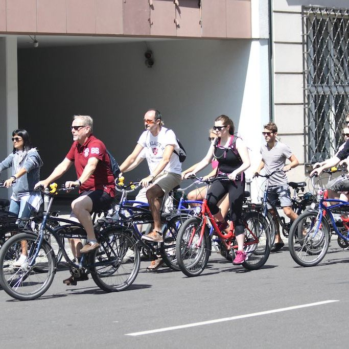 Bicyclists in Berlin