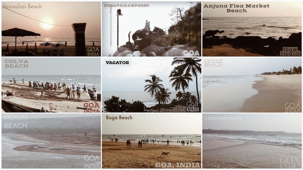 Various beaches of Goa