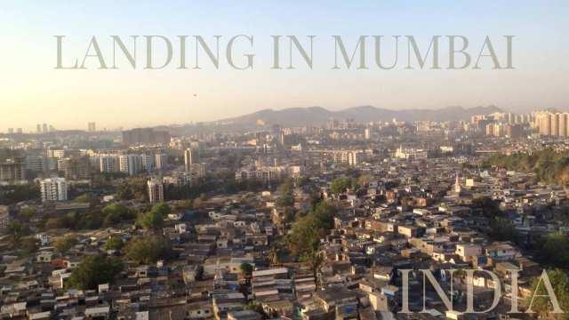 Mumbai slum houses near the airport