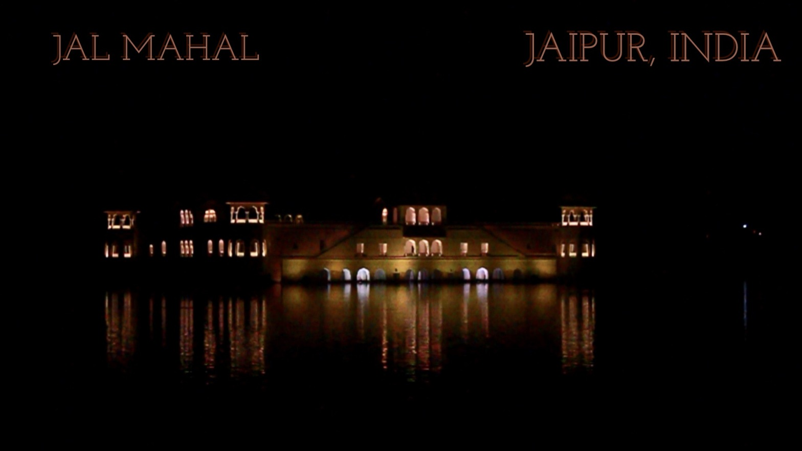 Jal Mahal in Jaipur in the night