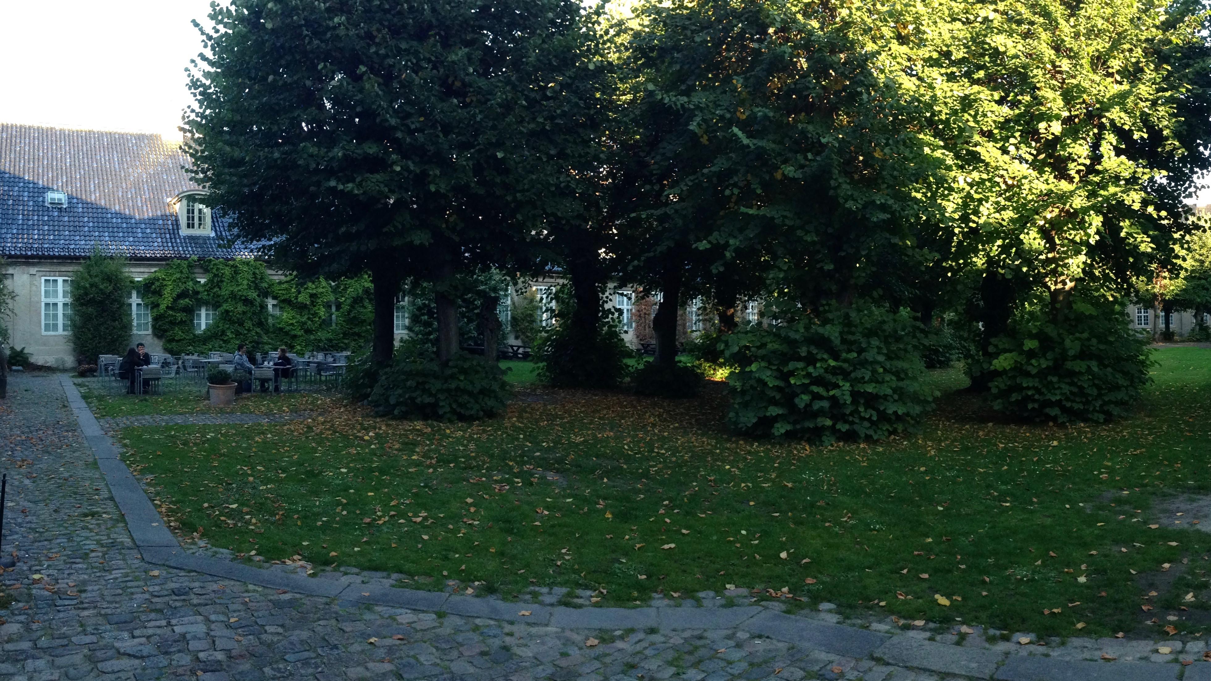 Inneryard of design museum in Copenhagen