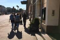 People walking on Pohjoisesplanadi street in Helsinki