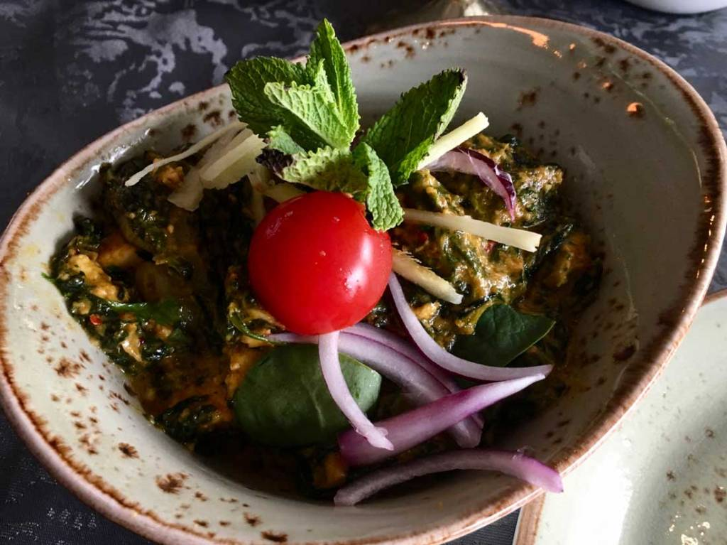 Palak Paneer in East India Stockholm