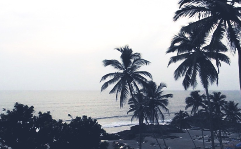 Vagator Beach in Goa and sunset with trance (videopreview)
