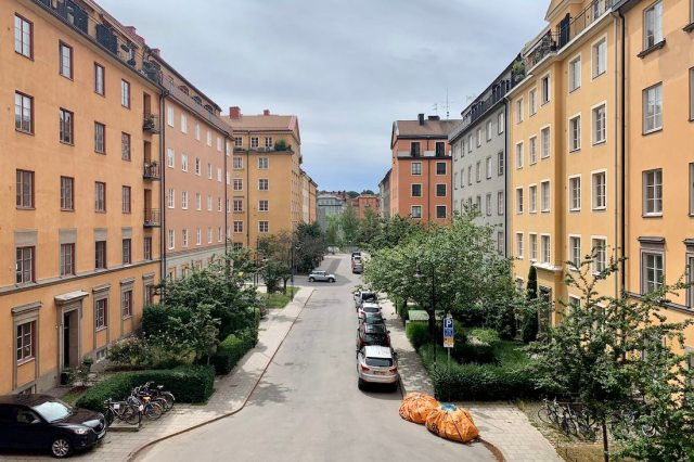 residential buildings in Stockholm, Sweden