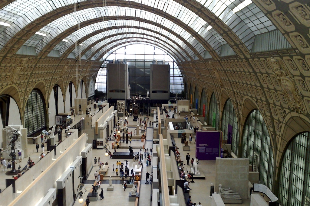 Museum D'orsay inside view in Paris