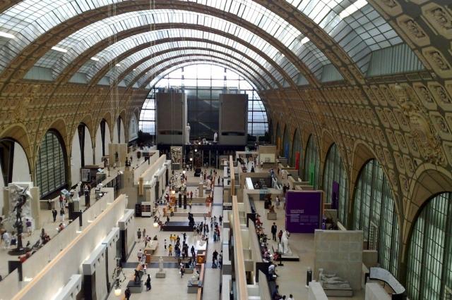 Museum D'orsay inside view in Paris