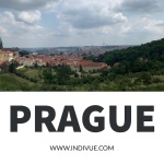 View of Prague from the hill