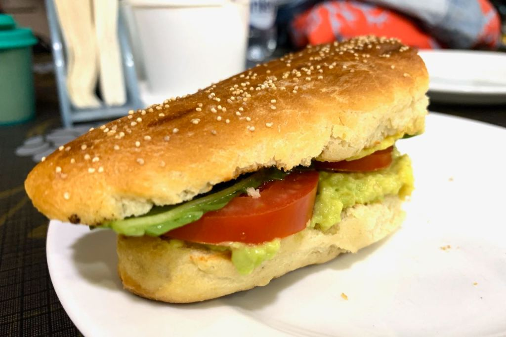 Veg sandwich in German Bakery