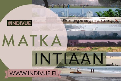 Mini button image of Trip to India in Finnish language