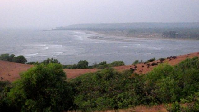 View from Fort Chapora towards Morjim