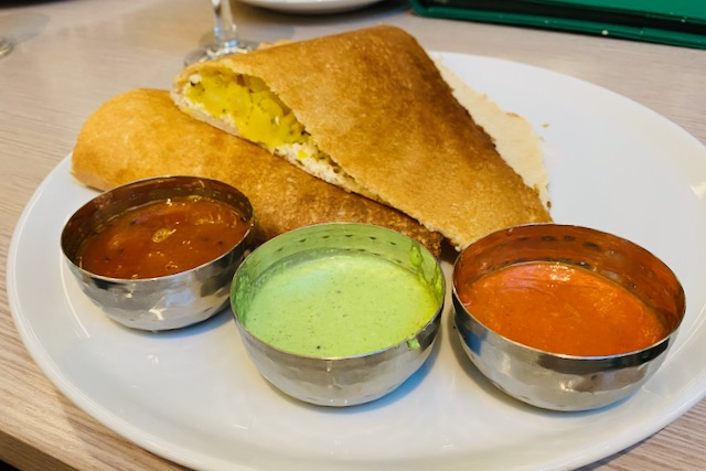 Dosa in South Indian restaurant Tallinn